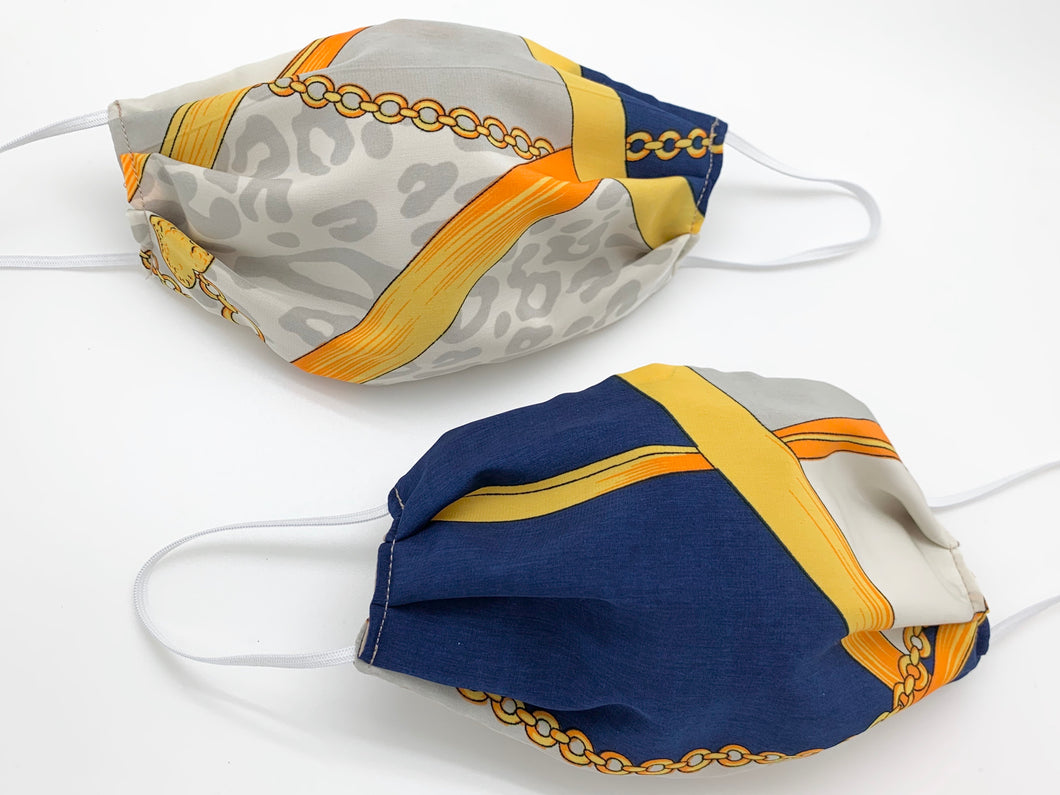 Face Mask Royal Blue Scarf