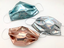Face Mask Metallic Silver
