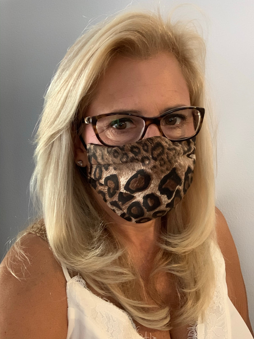 Face Mask Brown Leopard