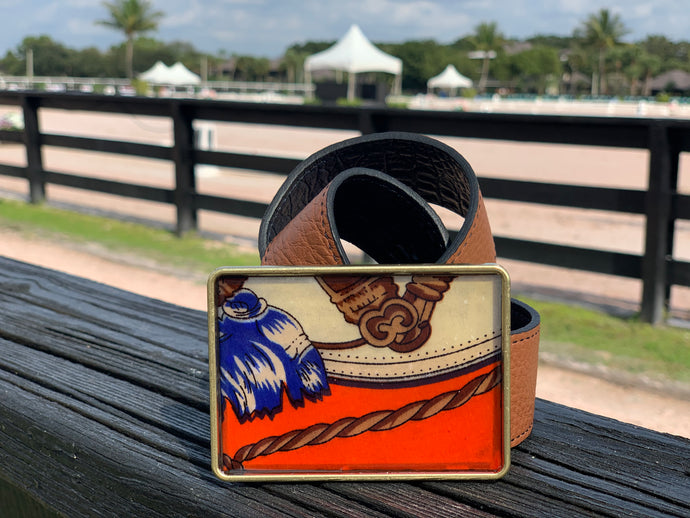 The Enamel Blue & Orange Equestrian