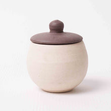 Small Beige Lidded Pot