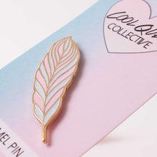 Feather Pin Pink