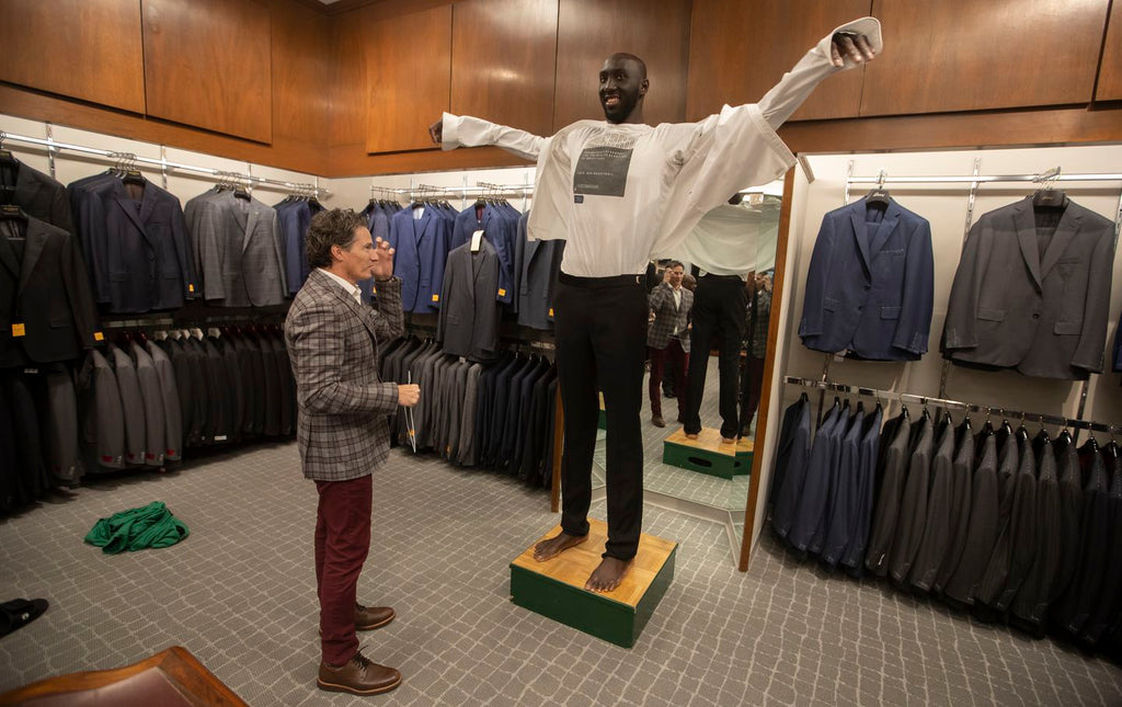 Fitting 7-foot-5-inch Tacko Fall For A Tuxedo Is No Small Feat