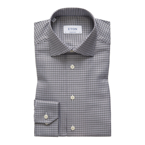 Contemporary Fit Grey King Twill Dress Shirt