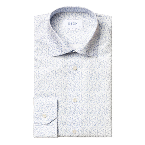Contemporary Fit Floral Lightweight Flannel Dress Shirt