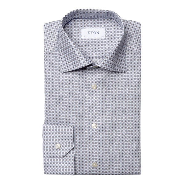 Contemporary Fit Medallion Print Dress Shirt