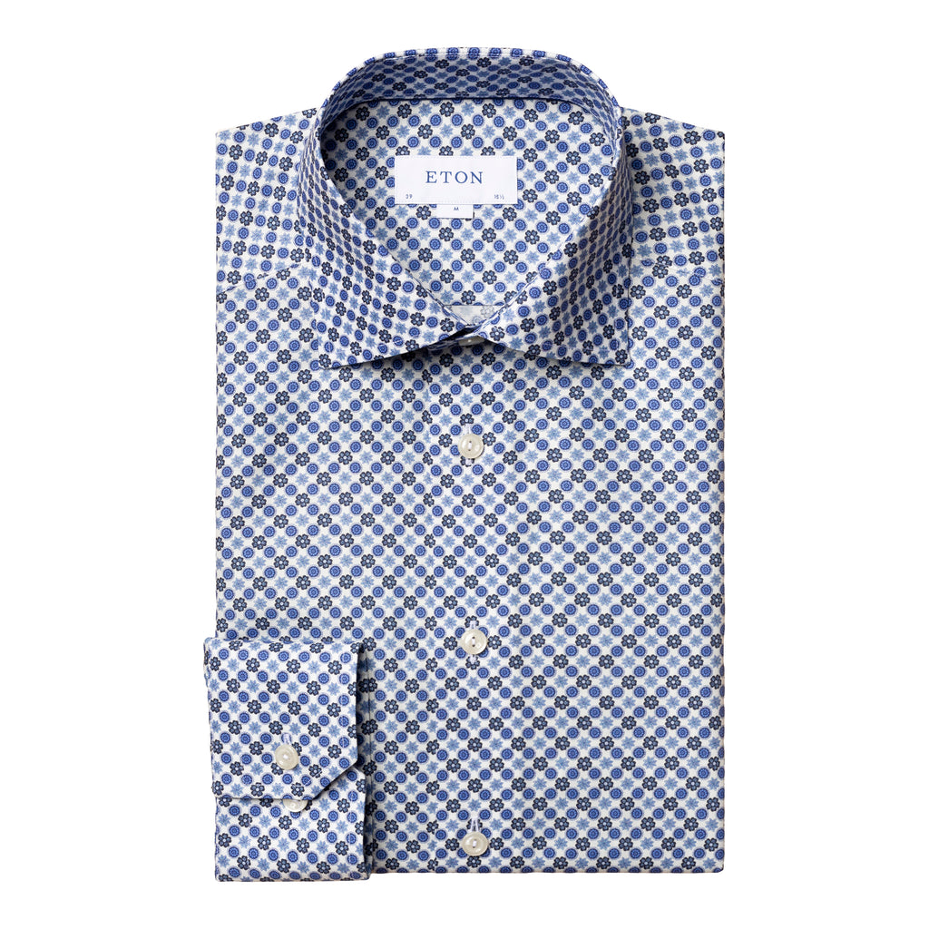Contemporary Fit Lightweight Flannel Dress Shirt