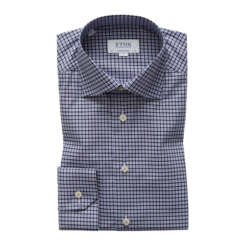 Contemporary Fit Plaid Dress Shirt
