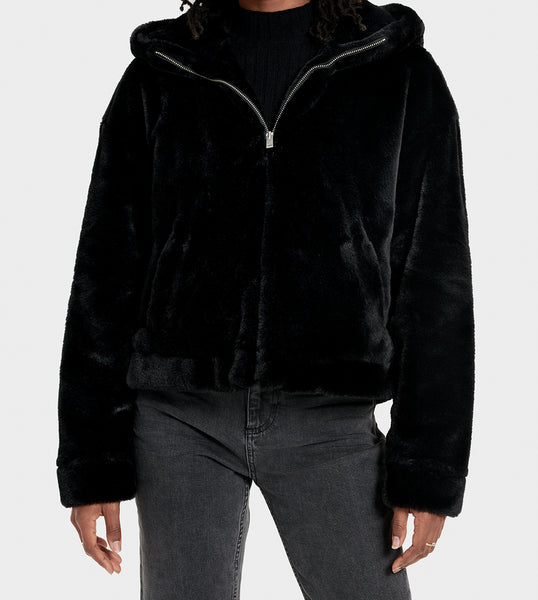 UGG MANDY FAUX FUR HOODED JACKET