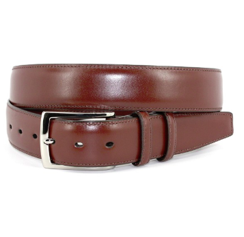 Torino Italian Burnished Calfskin Belt - Brown