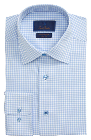 Gingham Performance Dress Shirt