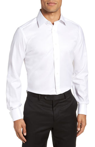 Dobby Weave French Cuff Formal Shirt