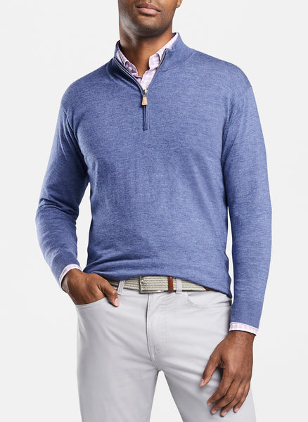 Peter Millar Crown Comfort Cashmere-Silk Quarter Zip