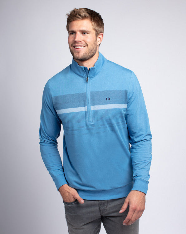 TravisMathew Blue Blood Quarter Zip