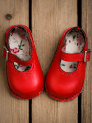 Leather Shoes - Red