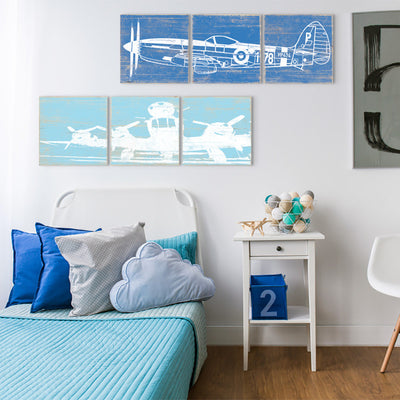 airplane themed bedroom