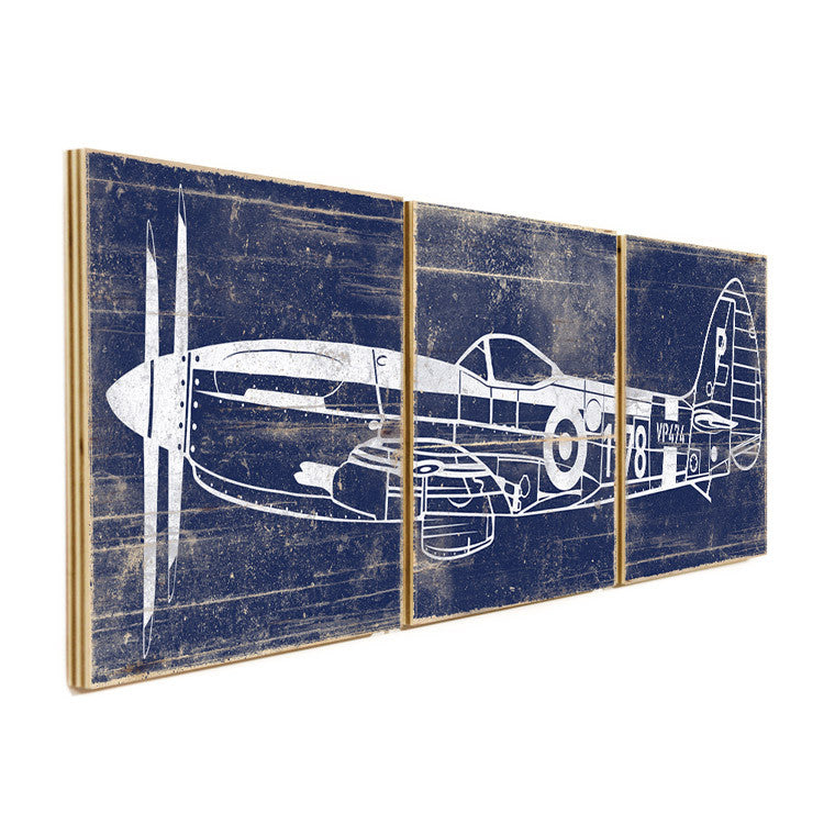 Airplane Wall Art airplane wall art on wood panels - perfect for airplane kids room