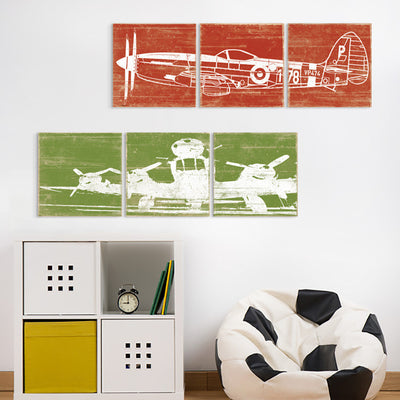 airplane wall art panels by right grain