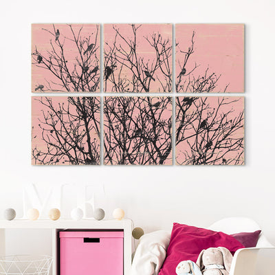 black bird wall art