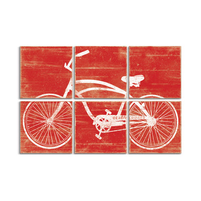 cruiser bike art red