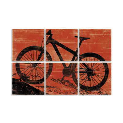 large mountain bike wall art