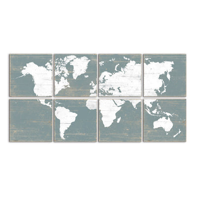 large world map  blue