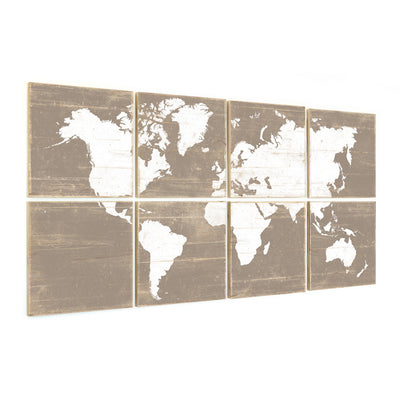 large world map brown