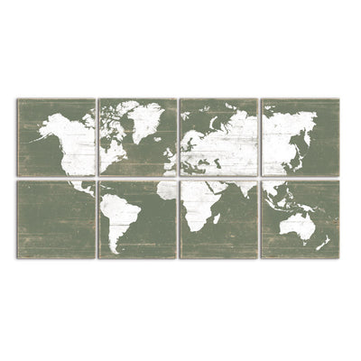 large world map green