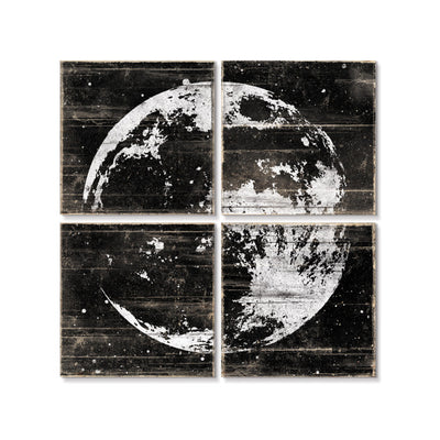 Moon Wall Art Black White