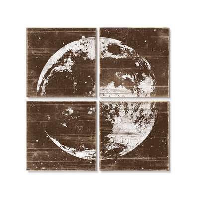 Moon Wall Art Brown