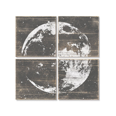 Moon Wall Art Gray