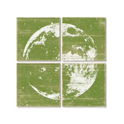Moon Wall Art Green