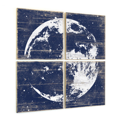 Navy Moon Wall Art