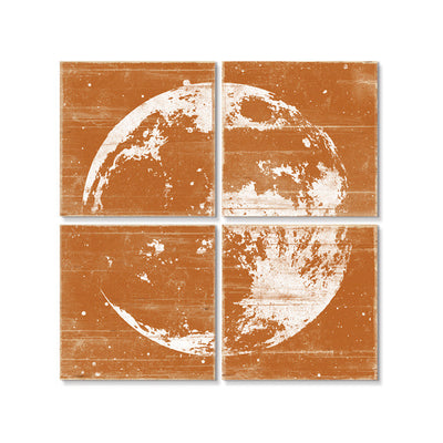 Moon Wall Art Orange