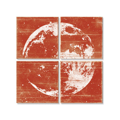Moon Wall Art Red