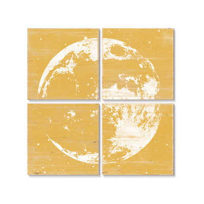 Moon Wall Art Yellow