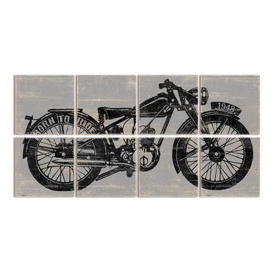 Large Motorcycle Wall Art   Motorcycle Garage Decor   Right Grain Decor