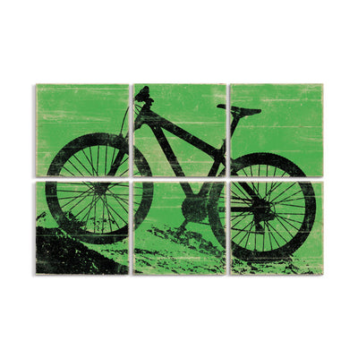 mountain bike art green