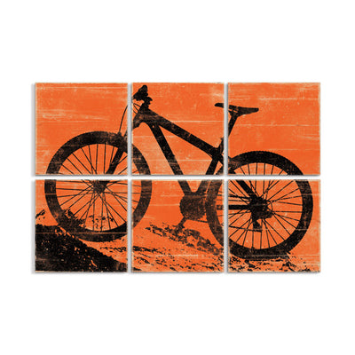 mountain bike art orange