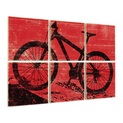 mountain bike art red