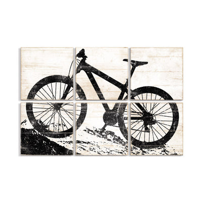 mountain bike wall art black white