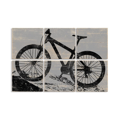 mountain bike wall art right grain