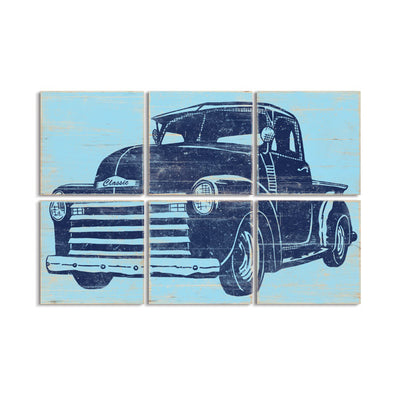 old truck wall art