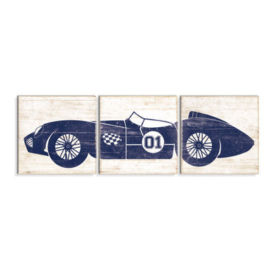 race car art navy