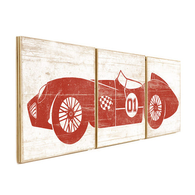 race car art red