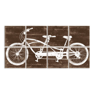 tandem bicycle art