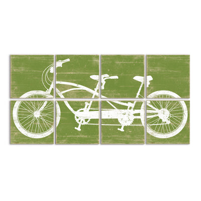 tandem bike art green