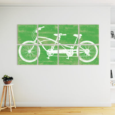 tandem bike wall art