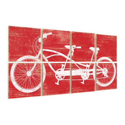 tandem bike wall art red