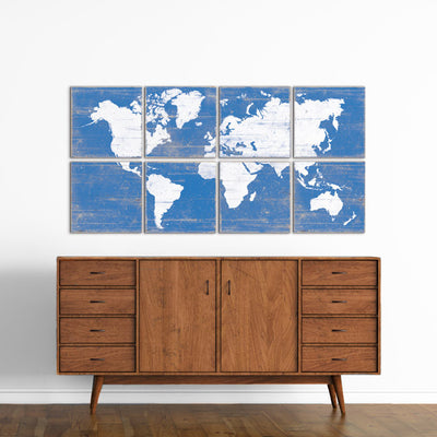 travel themed nursery world map